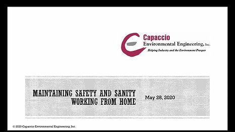Webinar: Maintaining Safety and Sanity Working From Home