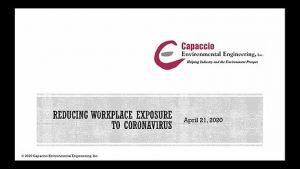 Webinar--Reducing Workplace Exposure to Coronovirus
